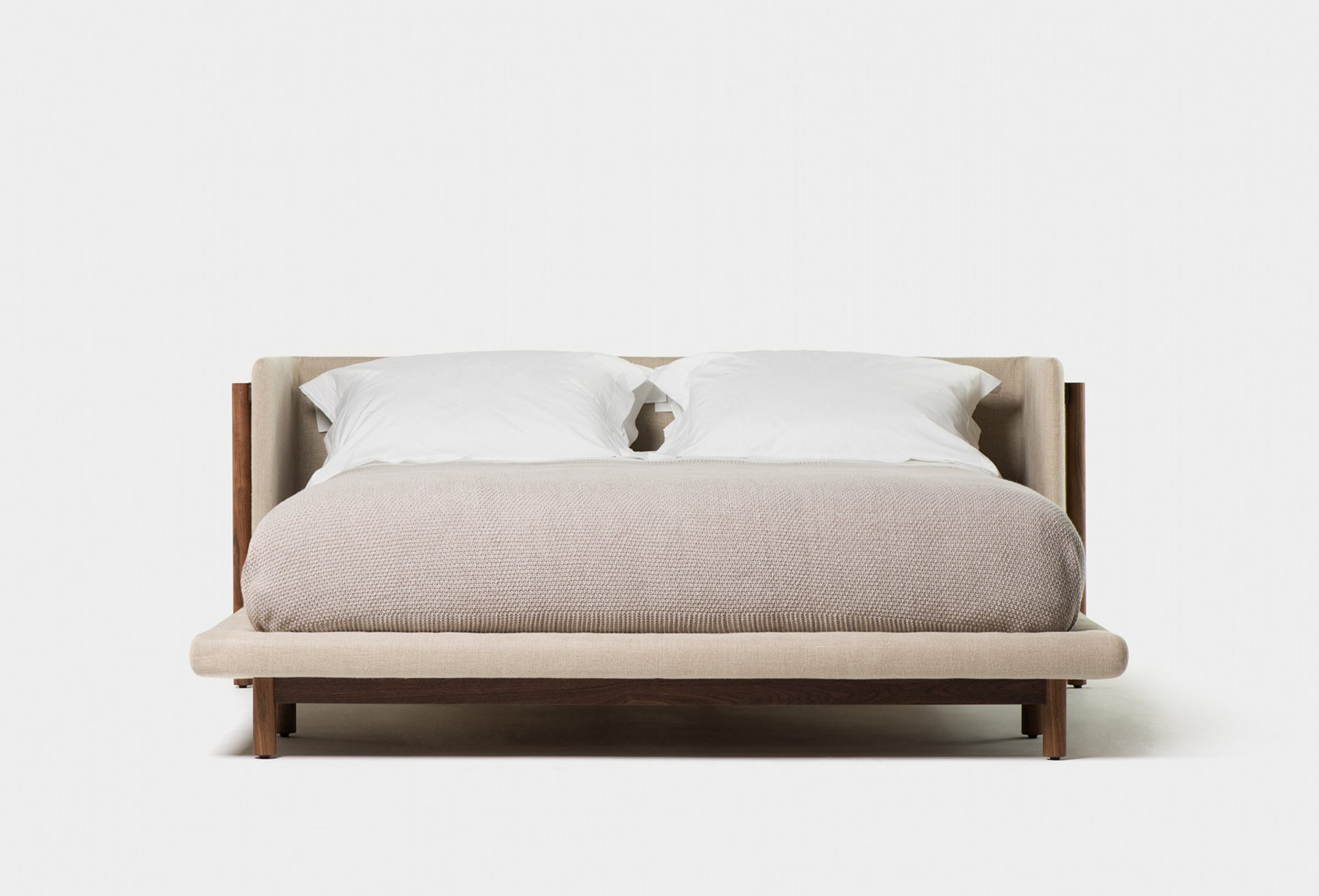 Beautiful Bett Frame Mit Kopfteil Walnuss Queensize Bild With Mit Kopfteil