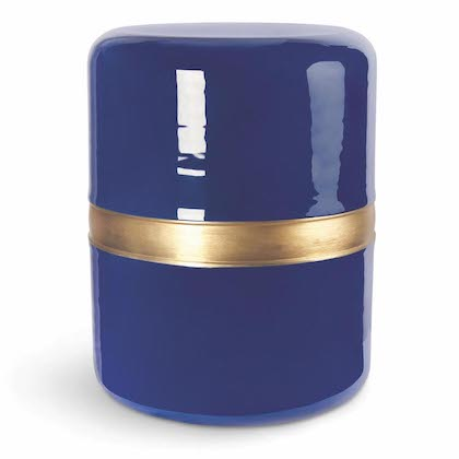Hocker, Drum, Marineblau