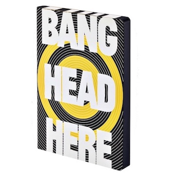 Notizbuch, Graphic L - Bang Head Here (A5)