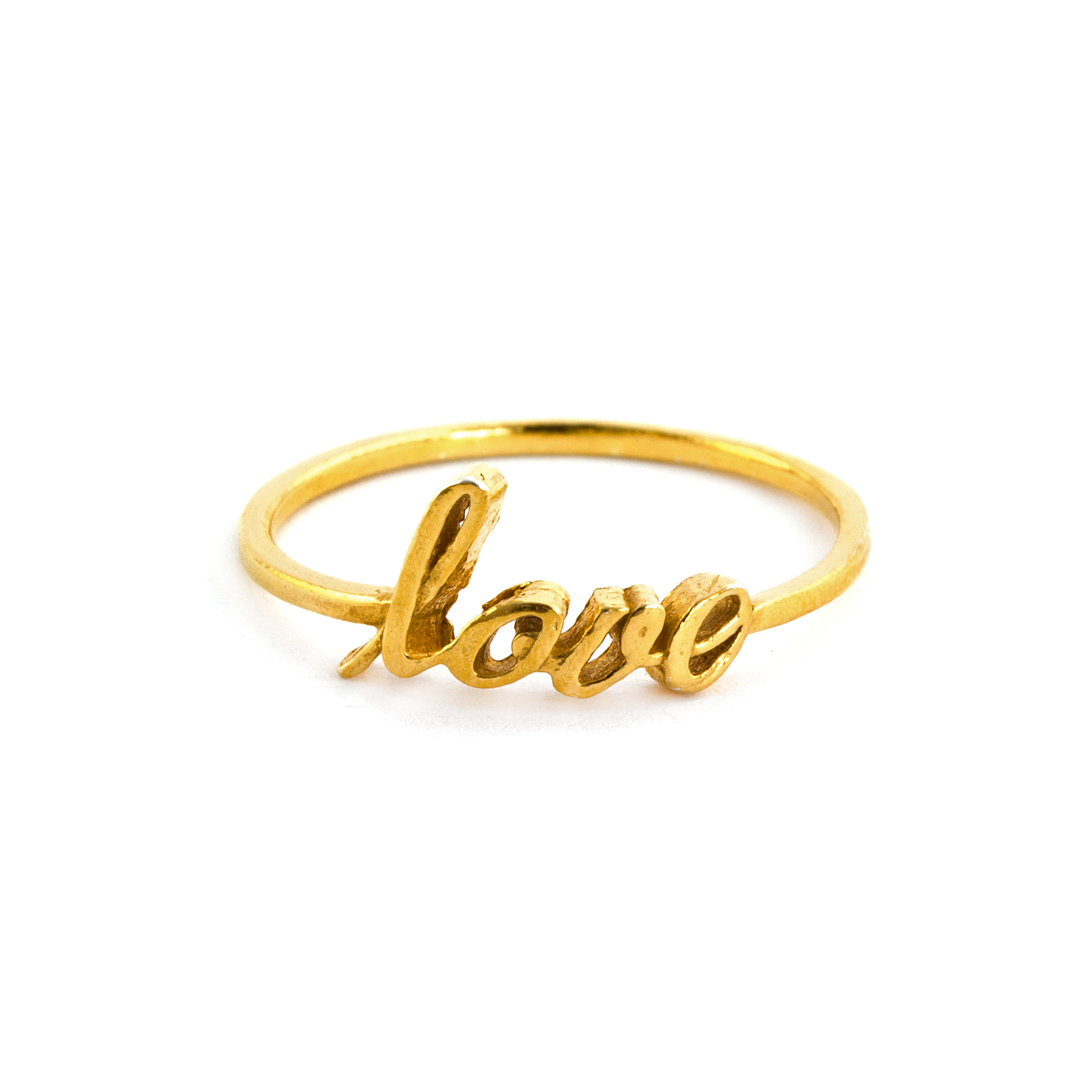 Ring, Love, Sterlingsilber goldplattiert - Alex Monroe - Bild 1