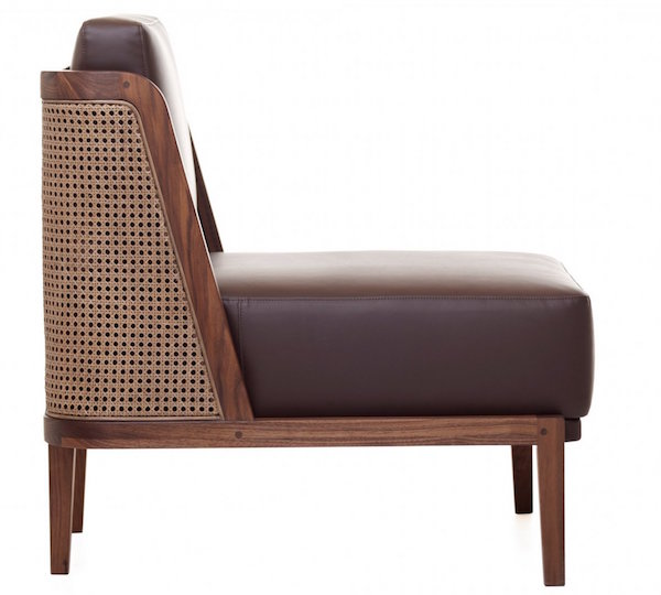 Sessel, Throne mit Rattan Walnuss