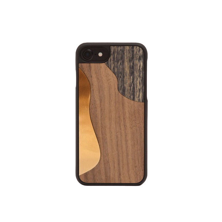 iPhone Hülle 7/8, Bronze Walnut - WOOD'D - Bild 1