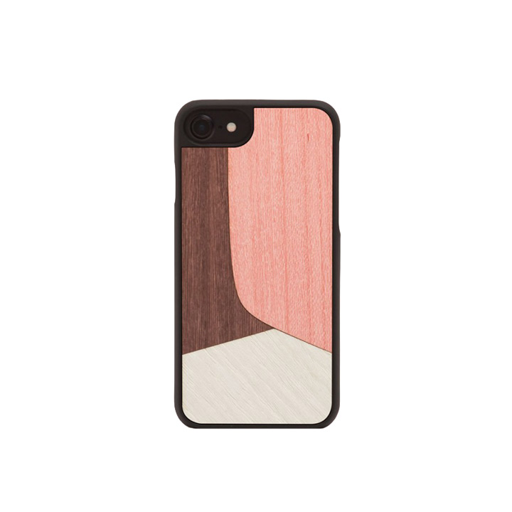 iPhone Hülle 7/8, Inlay Pink - WOOD'D - Bild 1